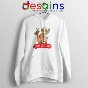 Buy Hoodie Sloth Merry Christmas Cheap Graphic Hoodies S-3XL