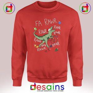 Sweatshirt Dinosaur Christmas Fa Rawr Rawr T-Rex Crewneck Size S-3XL
