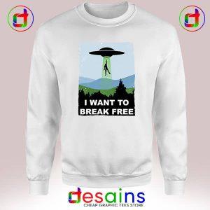 Sweatshirt I Want to Break Free Freddie Mercury Dr Who Cheap Crewneck