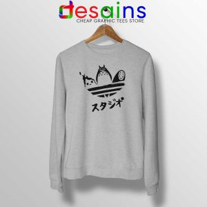Sweatshirt My Neighbor Totoro Adidas Japanese Crewneck Sweater S-3XL