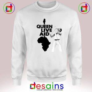 Sweatshirt Queen Live Aid Concert Buy Cheap Crewneck Size S-3XL