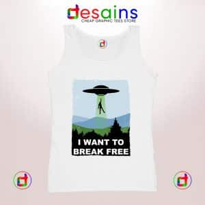 Tank Top I Want to Break Free Freddie Mercury Dr Who Cheap Tank Tops