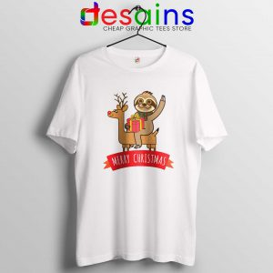 Tshirt Adult Sloth Merry Christmas Cheap Graphic Tee Shirts S-3XL