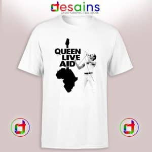 Tshirt Queen Live Aid Poster Cheap Graphic Tee Shirts Size S-3XL