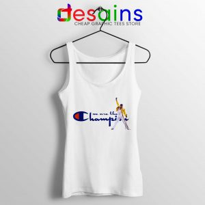 Cheap Tank Top We Are The Champion Fredy Mercury Size S-3XL