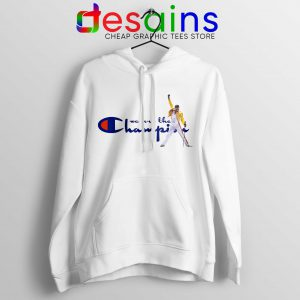 Hoodie Fredy Mercury We are the Champion Queen Concert Size S-3XL