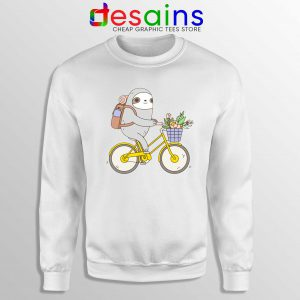 Buy Biking Sloth Cheap Sweatshirt Real Life Sloth Size S-3XL