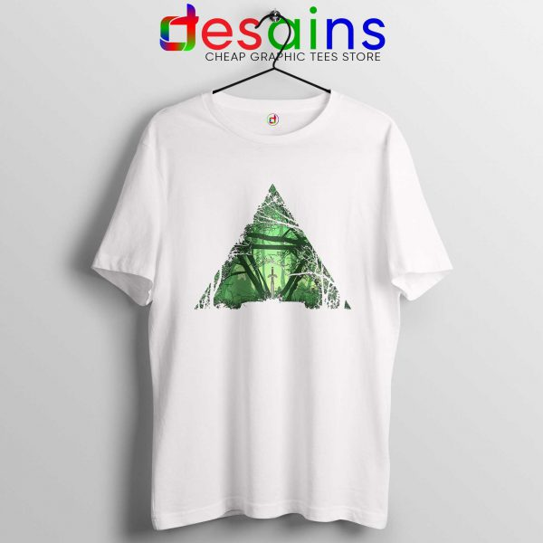 Cheap Tee Shirts Triforce Power Zelda Tshirt Kids White