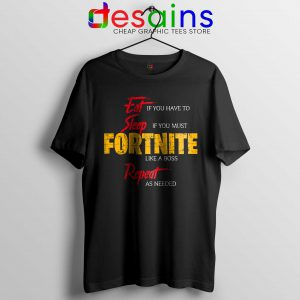 Cheap Tshirt Eat Sleep Fortnite Repeat Tee Shirts Size S-3XL