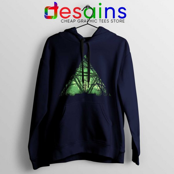 Legend of Zelda Triforce Hoodies Custom Navy Blue