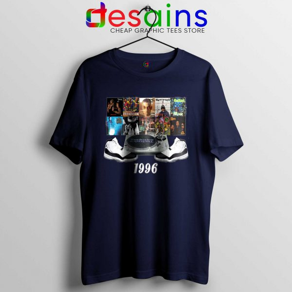 1996 Hip Hop Jordans Tee Shirt Cheap Size S-3XL Navy Blue
