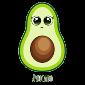 Avocado Cartoon Cheap Graphic Tee Shirts