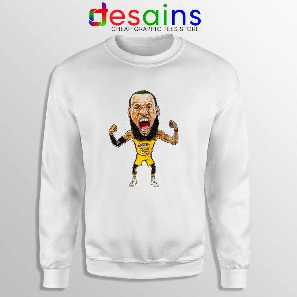 Best Lakers James Sweatshirt LeBron James Crewneck Size S-3XL
