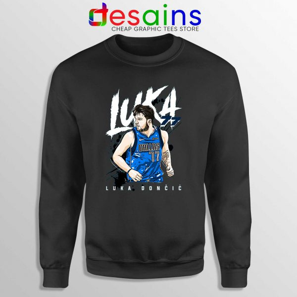 Best Luka Doncic Dallas Mavericks Sweatshirt Crewneck BLACK
