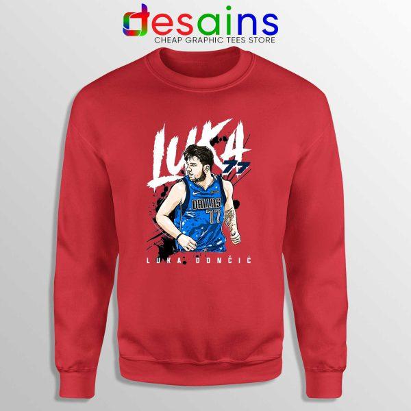 Best Luka Doncic Dallas Mavericks Sweatshirt Crewneck RED