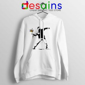Buy Hoodie Cool Banksy Flower Thrower Stencil Political Protest