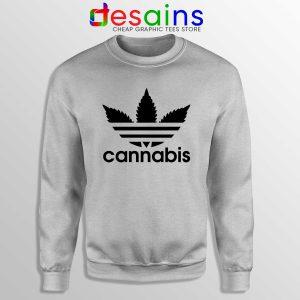 Buy Sweatshirt Cannabis Leaf Adidas Crewneck Funny Adidas Size S-3XL