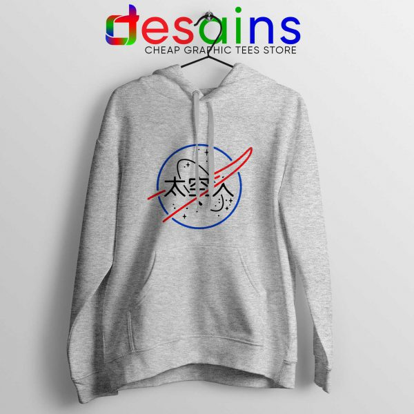 Cheap Hoodie Logo NASA Aesthetic Japanese Hoodies Sport Grey