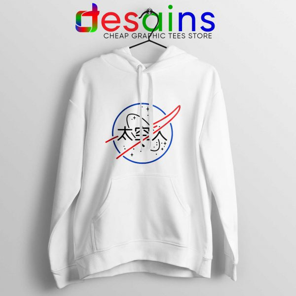 Cheap Hoodie Logo NASA Aesthetic Japanese Hoodies White