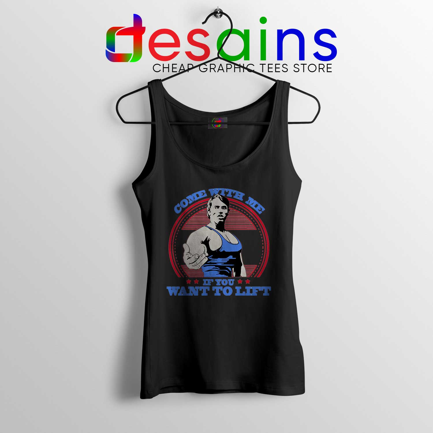 3eb2079c1ad32 Cheap Tank Top Arnold Schwarzenegger Come With Me if You Want To Lift Black