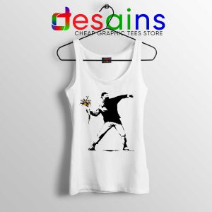 Cheap Tank Top Cool Banksy Flower Thrower Stencil Political Protest