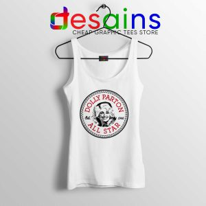 Cheap Tank Top Dolly Parton Converse All Star logo size S-3XL