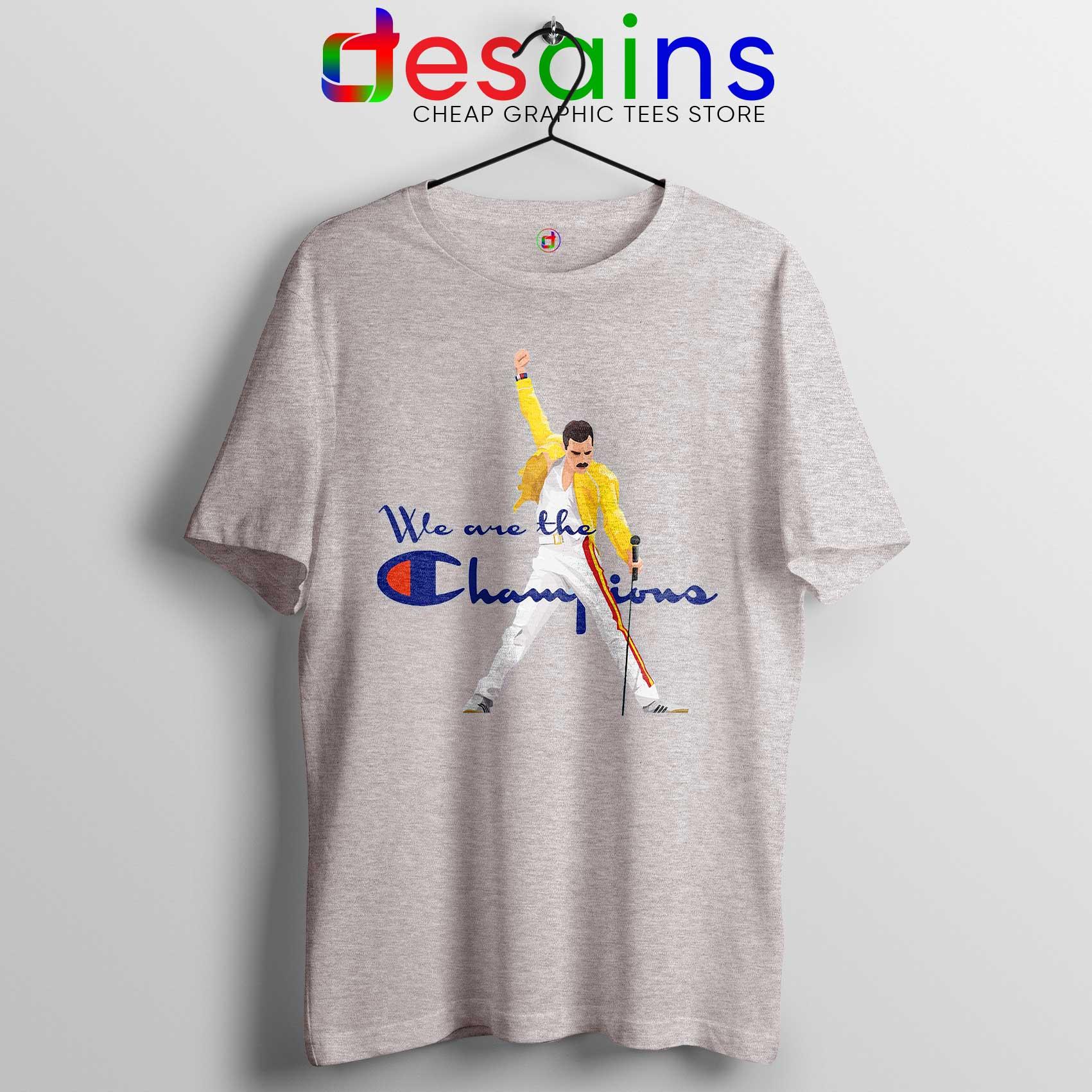 df0d64c6d4eb Cheap Tee Shirt Freddie Champion Tshirt Sport Grey We are the Champion
