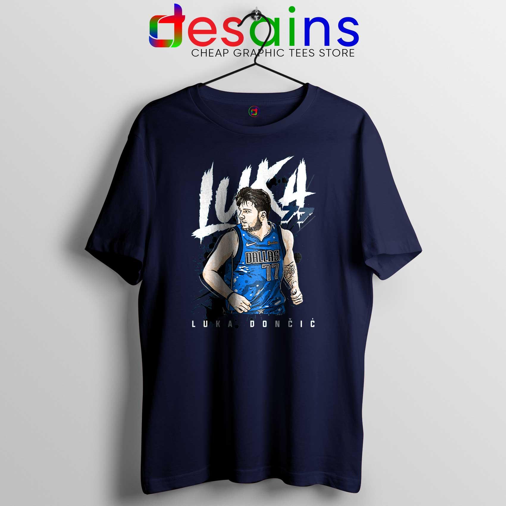 quality design 3255b a4451 Cheap Tee Shirts Luka Doncic Dallas Mavericks art Size S-3XL