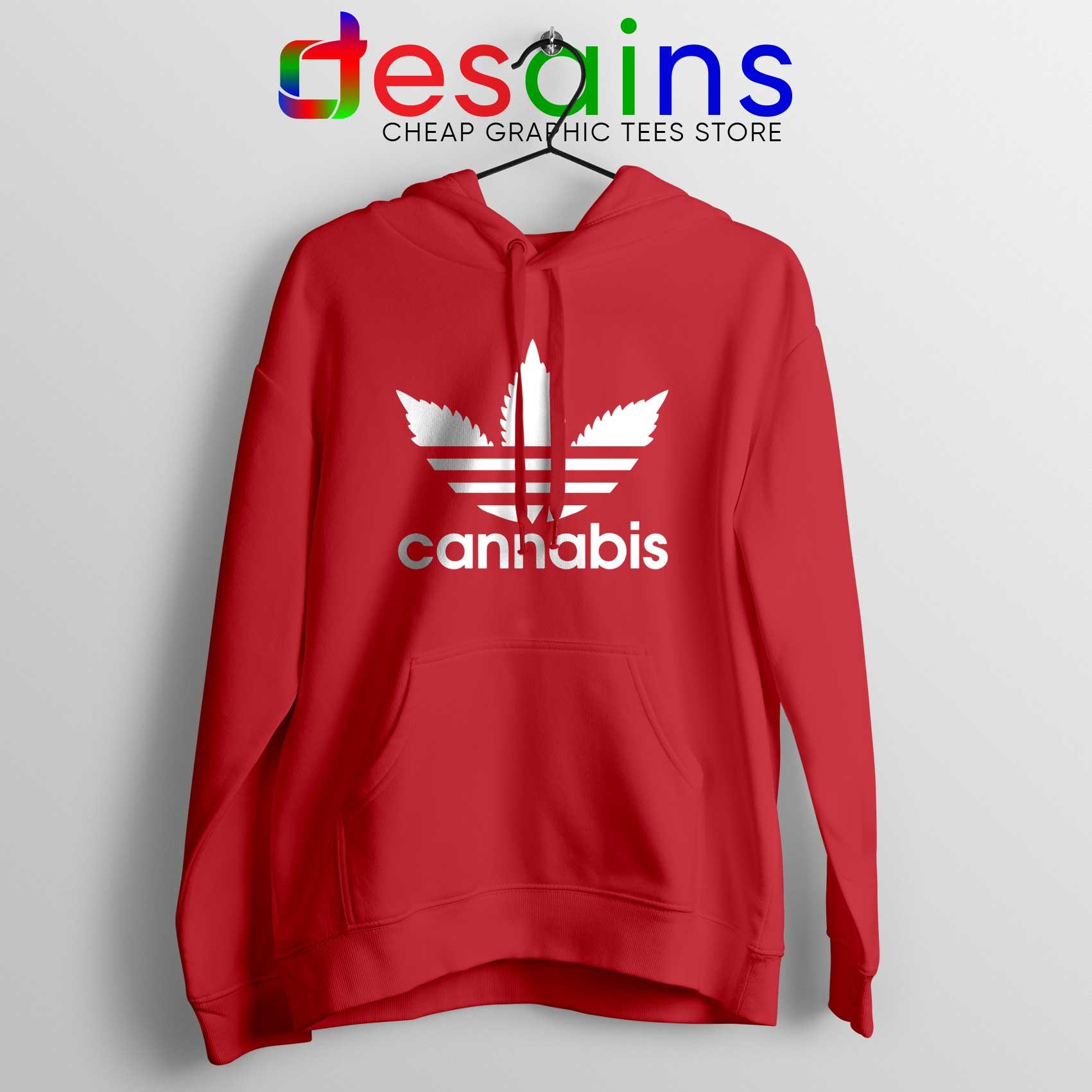 Hoodie Cannabis Leaf Adidas Cheap Hoodies Funny Parody Size S 3XL