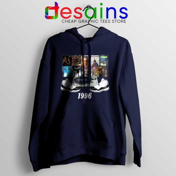 Hoodie Jordans 1996 Hip Hop Cheap Hoodies Navy Blue