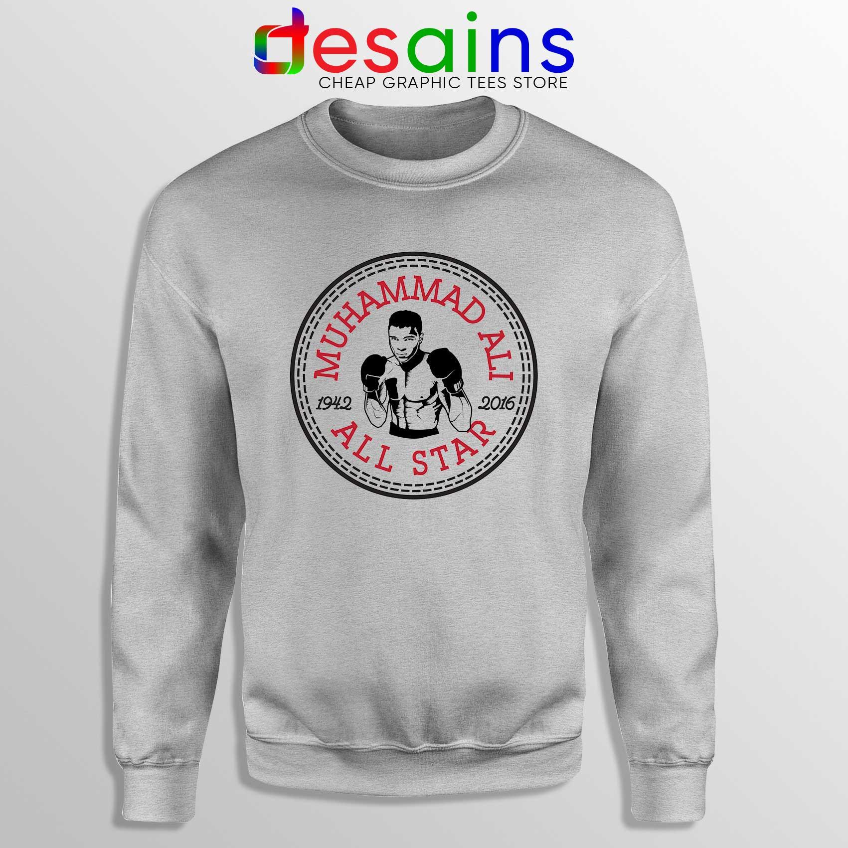 41aa9a0b73ef Muhammad Ali All Star Sweatshirt Converse Logo Crewneck Size S-3XL