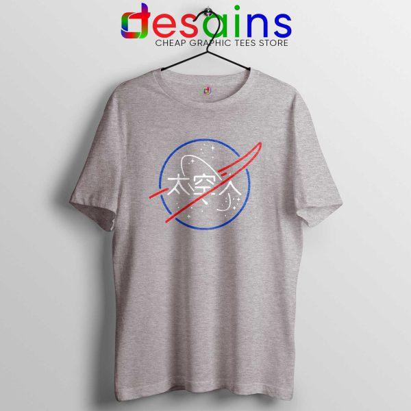NASA Aesthetic Japanese Tee Shirt Cheap Tshirt Sport Grey