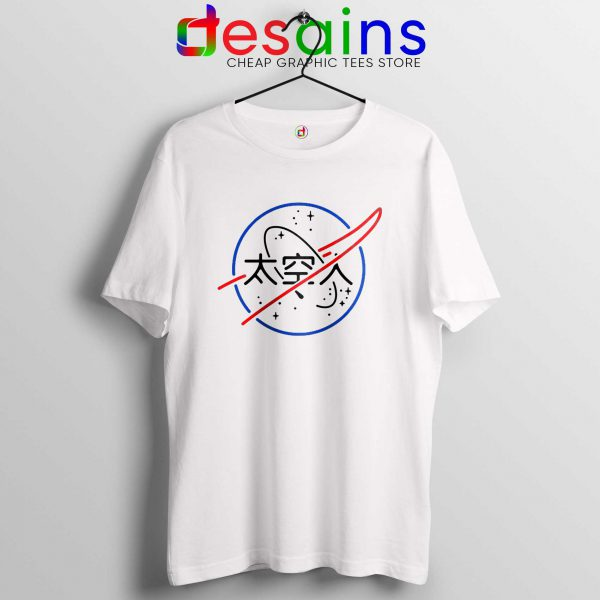 NASA Aesthetic Japanese Tee Shirt Cheap Tshirt White