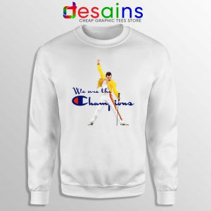Sweatshirt Freddie Champion Crewneck We are the Champion Queen