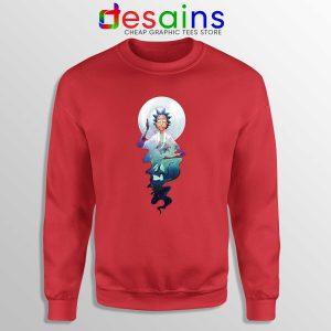 Sweatshirt Rick and Morty Magic Adult Swim Sweater S-3XL Red