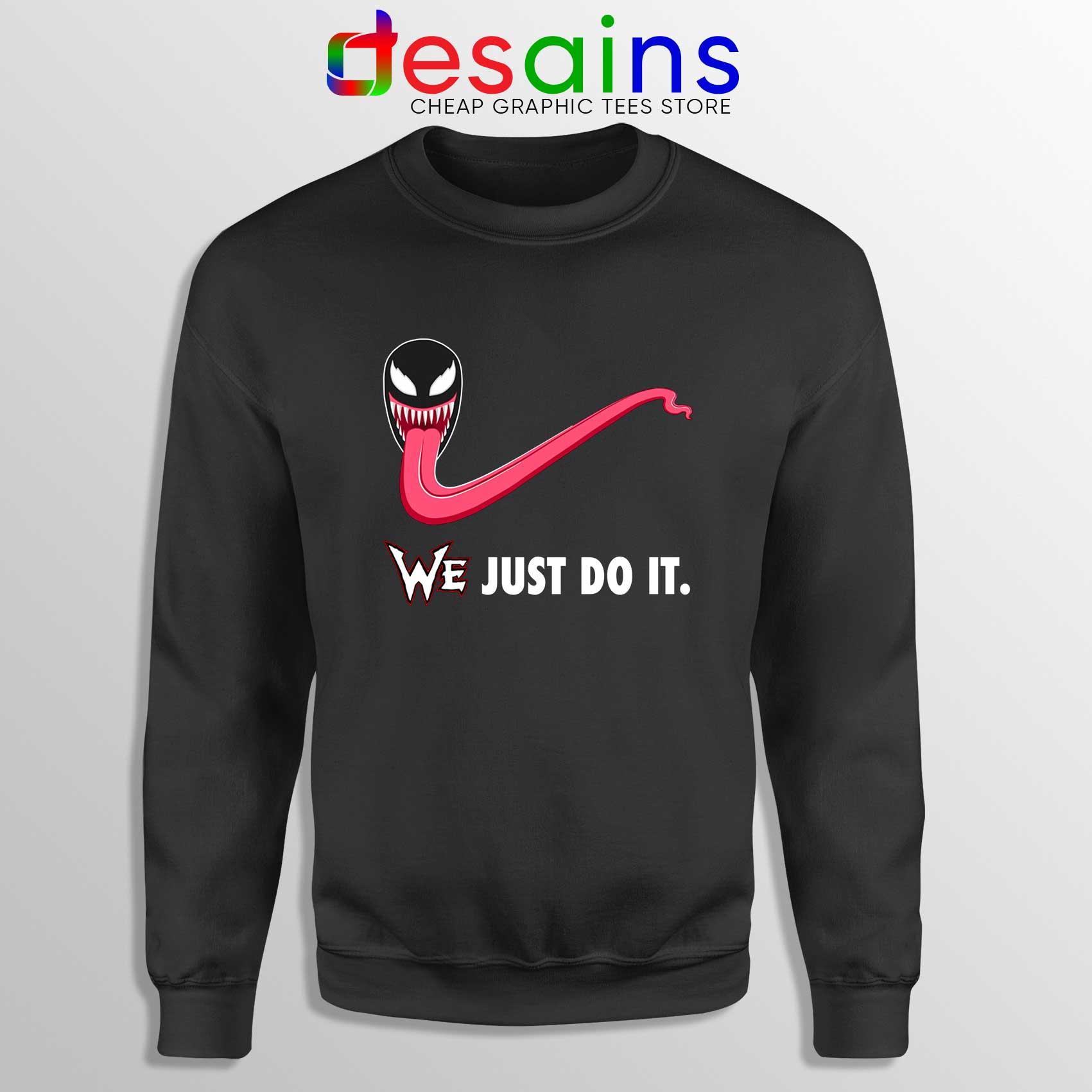 uk store release info on many styles Sweatshirt Venom WE Just Do It Sweater Marvel Nike Parody S-3XL