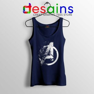 Tank Top Logo Avengers Endgame Distressed Tank Tops Marvel Movie