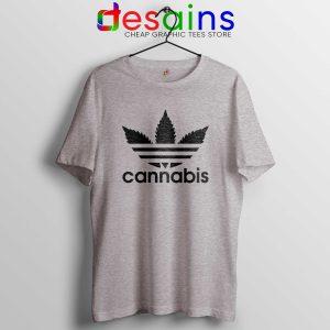 Tee Shirt Cannabis Leaf Adidas Cheap Tshirt Adidas Parody S-3XL