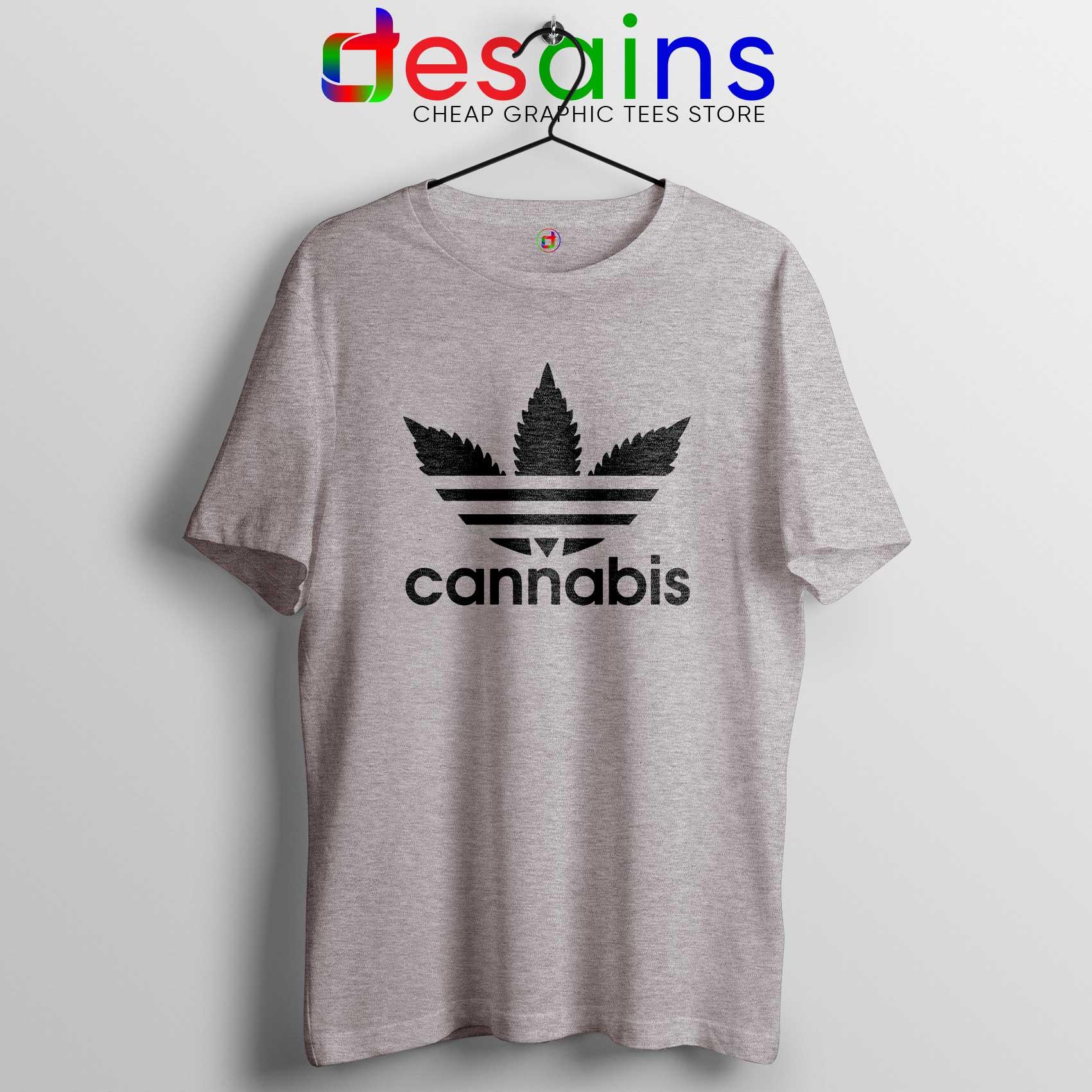 Tee Shirt Cannabis Leaf Adidas Cheap Tshirt Adidas Parody S 3XL