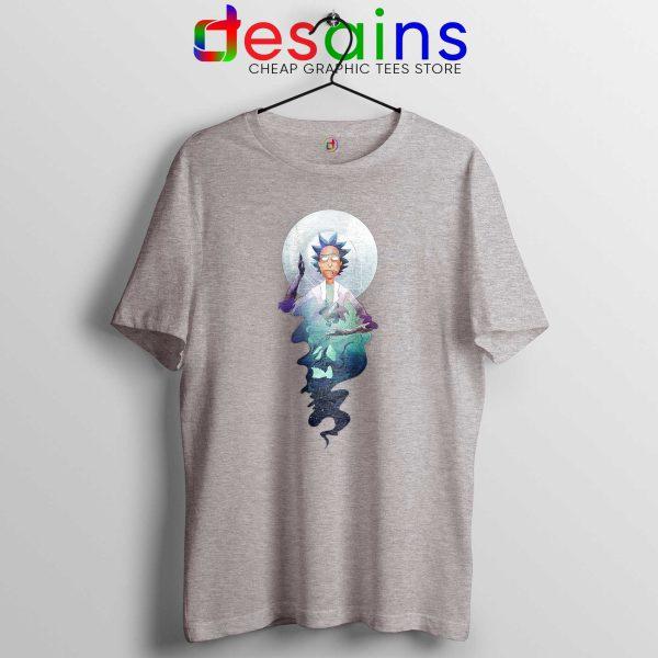 Tee Shirt Rick and Morty Adult Swim Magic T-shirt Size S-3XL Sport Grey