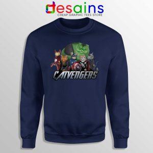 Cat in America Superhero Captain Cat Sweatshirt