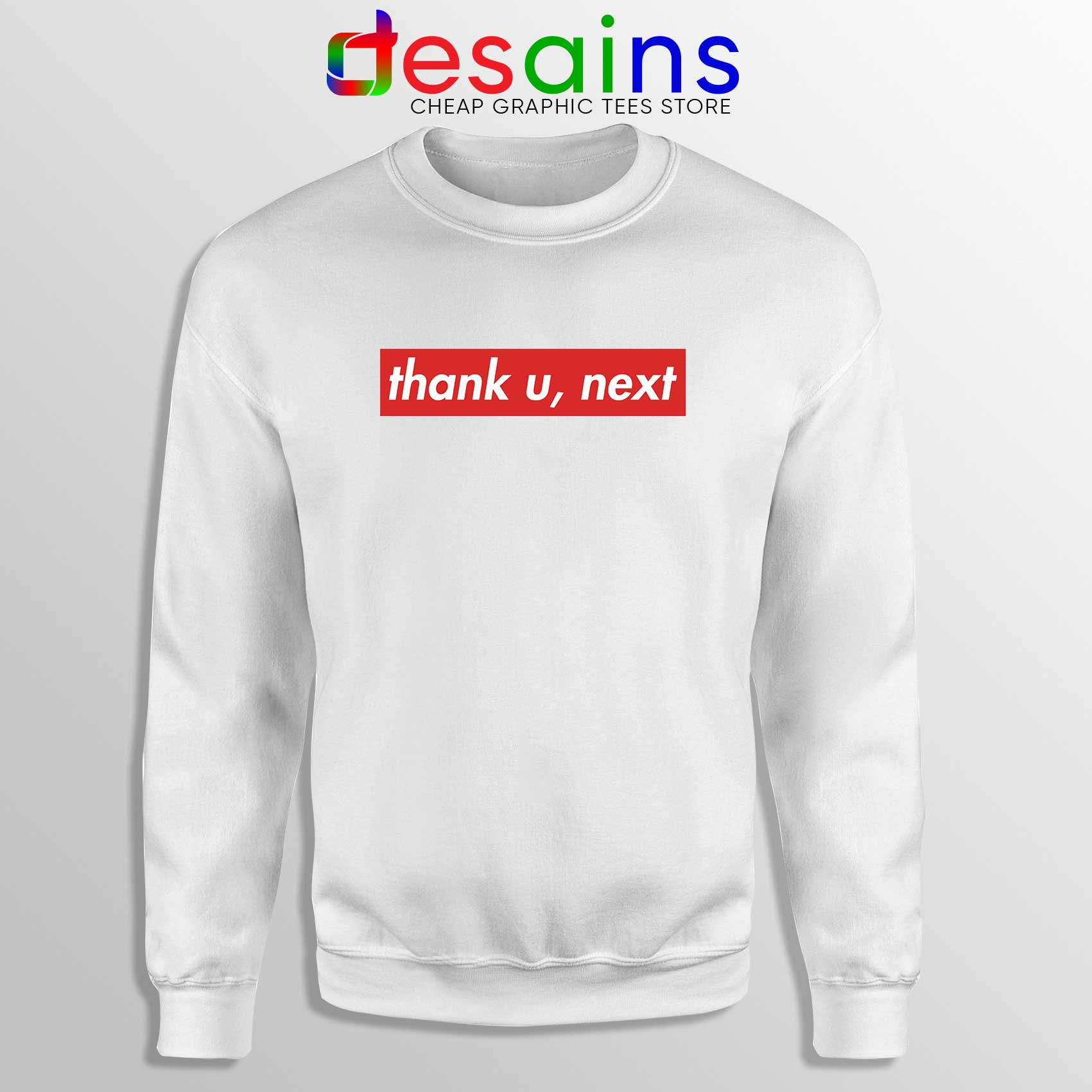 20c625e92768 Buy Sweatshirt Thank U Next Ariana Grande Supreme Crewneck