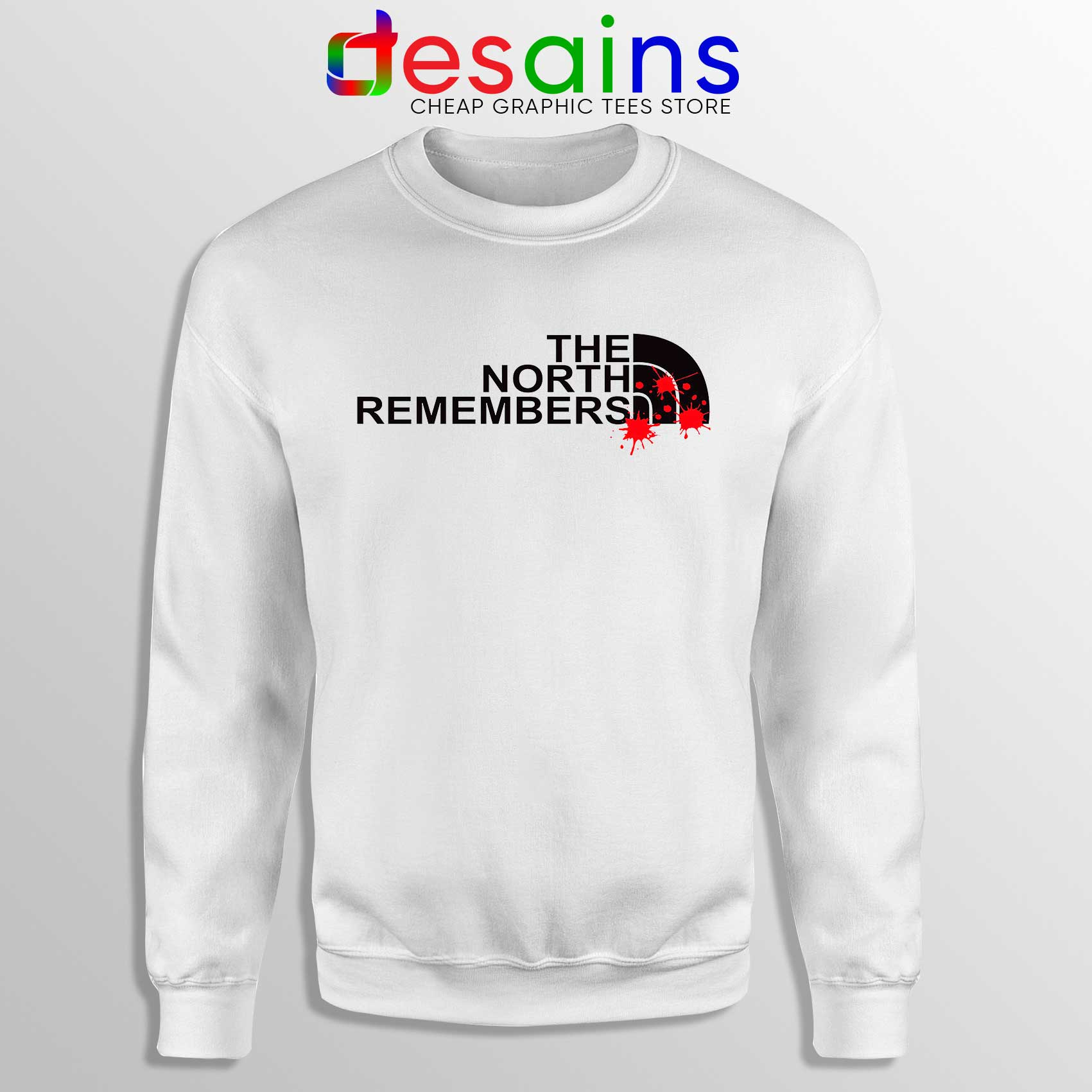 39039e805 Buy Sweatshirt The North Remembers North Face Crewneck Size S-3XL