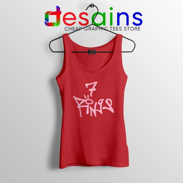 Cheap Tank Top Ariana Grande 7 Rings Thank U, Next Album Red