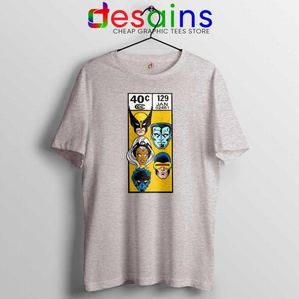 Tee Shirt X Men Comic Book Poster Cheap Tshirt Sport Grey