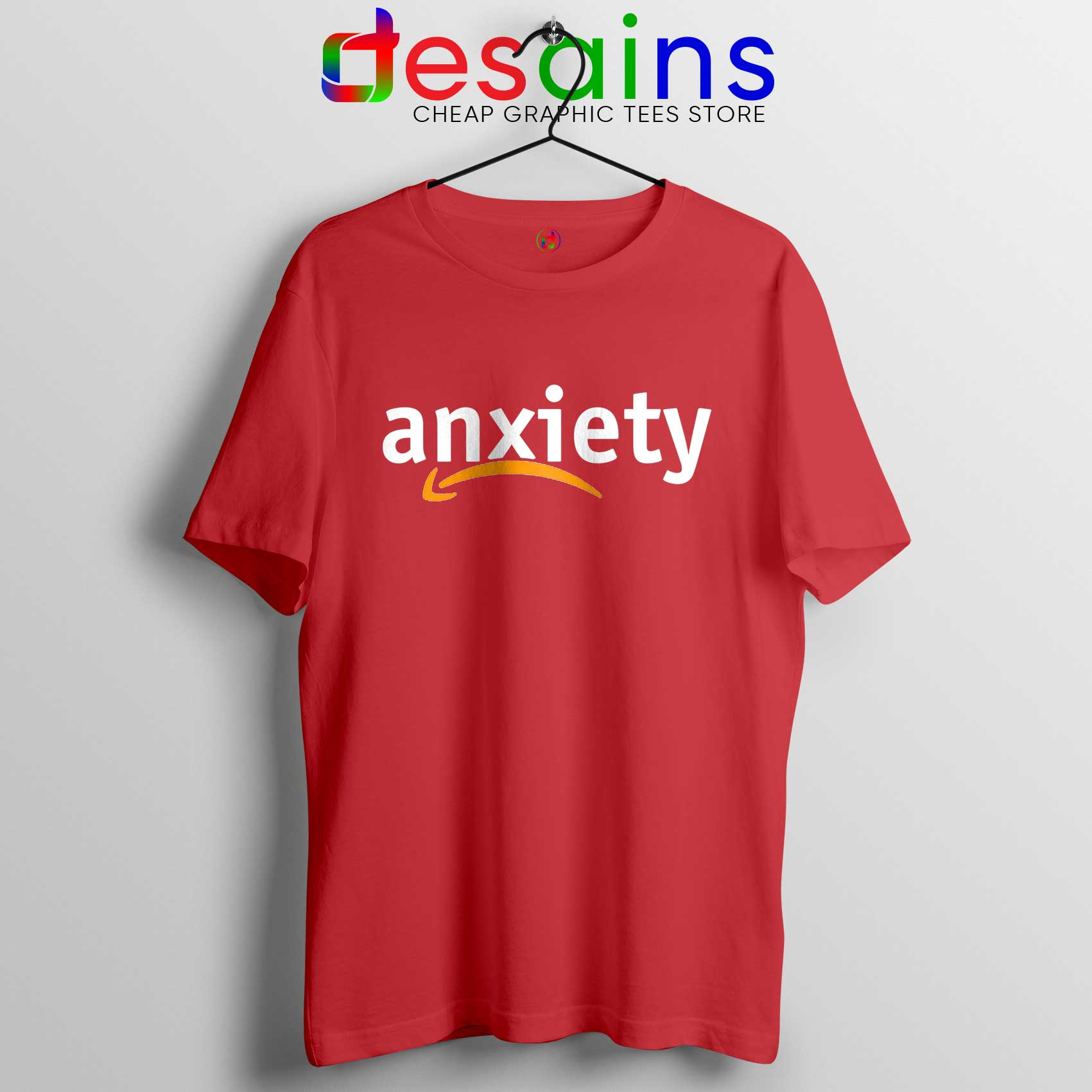Best Tee Shirt Anxiety Amazon Logo Tshirt Funny Review