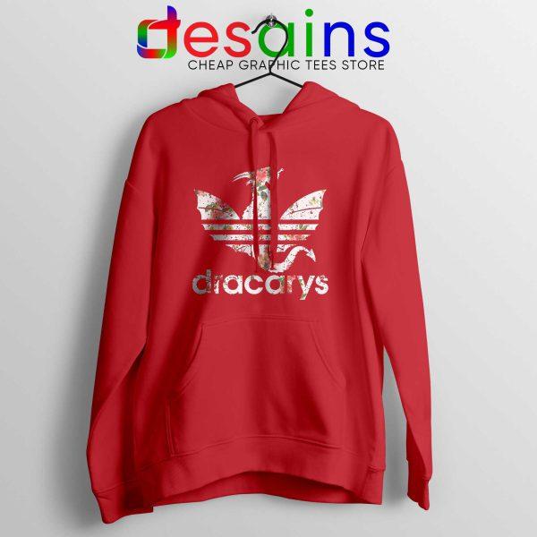 Buy Hoodie Dracarys Dragon Flowers Adidas Three Stripes Red