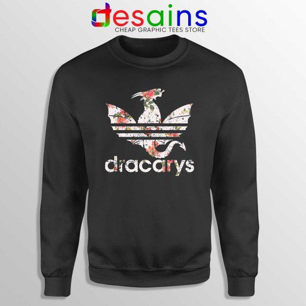 Cheap Sweatshirt Dracarys Dragon Flowers Sweater Adidas Three Stripes