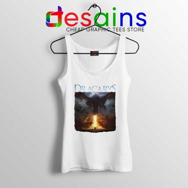 Tank Top White Dracarys Dragon Fire Game of Thrones