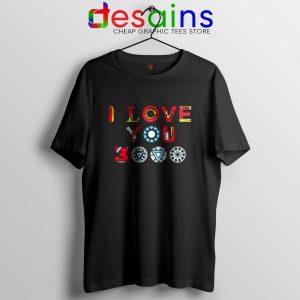 Tee Shirt I Love You 3000 Iron Man Avengers Endgame